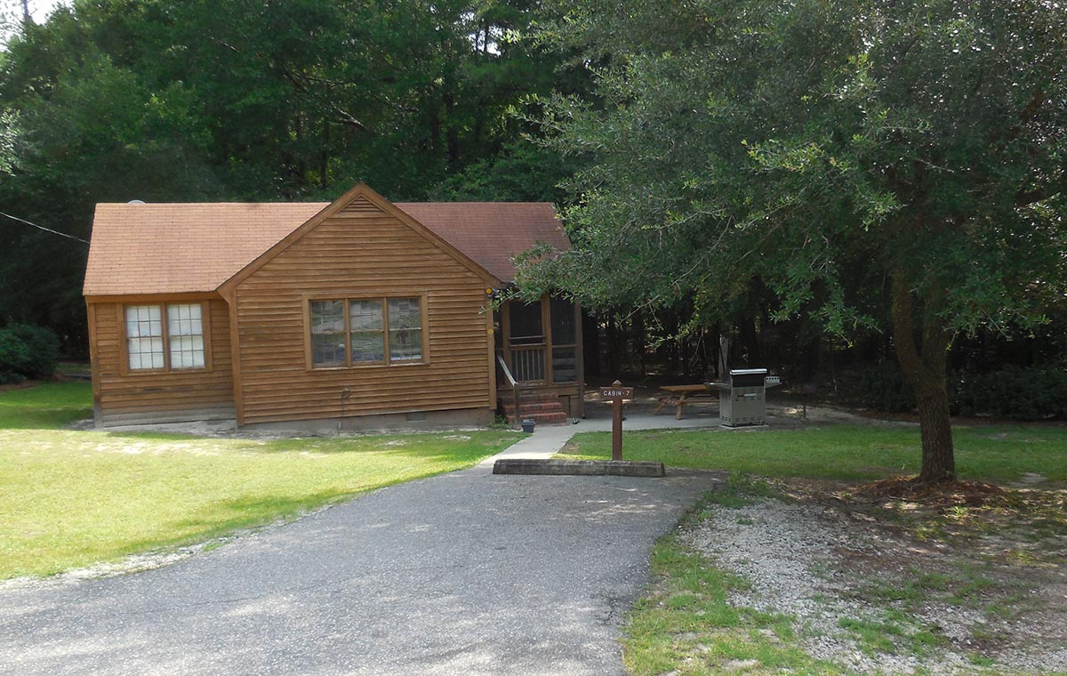 cabin 7 at Cheraw State Park
